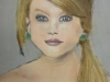 Pastel Portrait of Taylor Swift by Grace