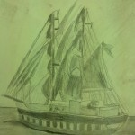 Pencil Drawing by Justin 7th Grade